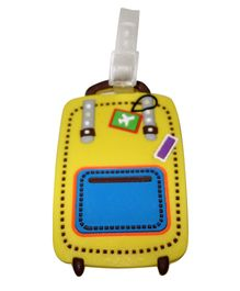 Funcart Lets Fly yellow Luggage Tag - Yellow