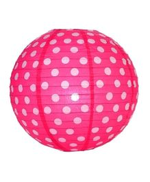 Funcart Polka Dots Paper Lantern 12 Inches - Pink