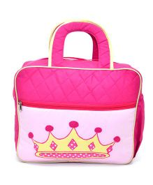 The Sprouts Crown Diaper Bag - Pink