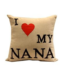 The Sprouts I Love My Nana Printed Cushion Cover - Beige