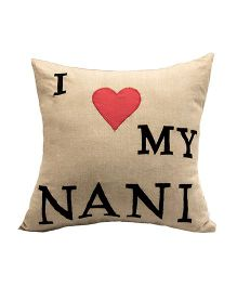 The Sprouts I Love My Nani Printed Cushion Cover - Beige