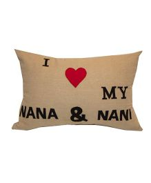 The Sprouts I Love My Nana & Nani Printed Cushion Cover - Beige