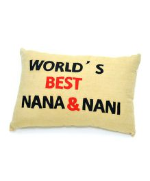 The Sprouts World's Best Nana & Nani Printed Cushion Cover - Beige