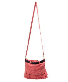 The Sprouts Skirt Style Sling Bag - Pink