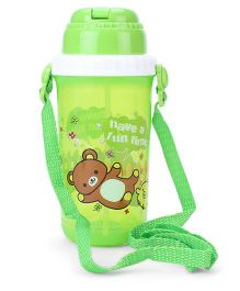 Sipper Bottle Have a Fun Time Print Green - 500 ml
