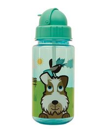 Tum Tum Flip Top Water Bottle Scruff - Green