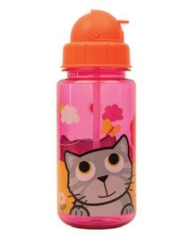 Tum Tum Flip Top Water Bottle Bluebell - Pink & Orange