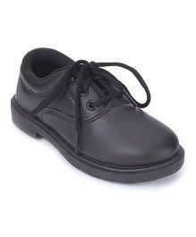 G & D School Shoes Tie Up Closure - Black