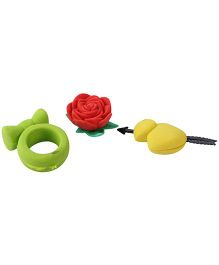 Flower And Ring Shape Eraser - Pack Of 3