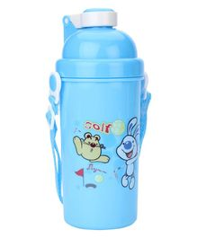 Sipper Water Bottle With Push Button Lid - Blue