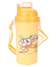 Sipper Water Bottle With Push Button Lid - Orange