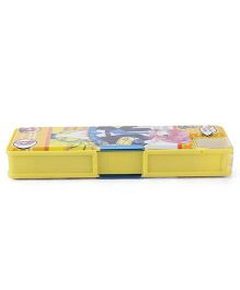 Pencil Box With Do Your Best Print - Yellow