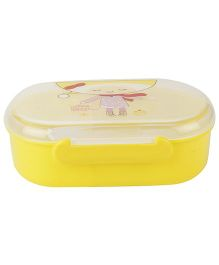 Lunch Box with Transperent Lid Merry Christmas Print - Yellow