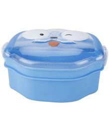 Lunch Box with Transperent Lid Dog Face Shape - Blue