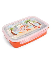 Multipurpose Stainless Steel And Plastic Lunch Box - Orange