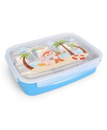 Multipurpose Stainless Steel And Plastic Lunch Box - Blue