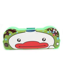 Pencil Box With Sharpener Duck Print - Green