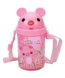 Mouse Shape Lid Sipper Water Bottle - Pink