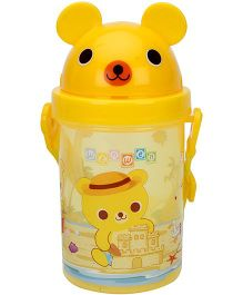 Teddy Face Shaped Water Bottle Yellow - 400 ml