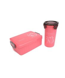 Lunch Box and Tumbler Set Sincerity Print - Red