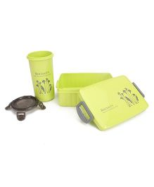 Lunch Box and Tumbler Set Sincerity Print - Green