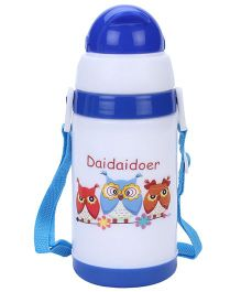 Daidaidoer Print Sipper Water Bottle Blue - 350 ml