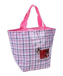 Check Carry Bag - Pink White