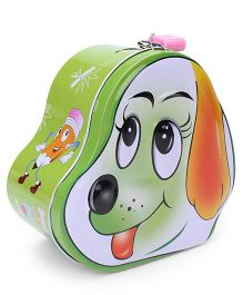 Puppy Shaped Coin Box - Green