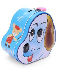 Puppy Shaped Coin Box - Blue
