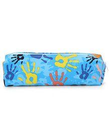 Hand Print Pencil Box - Blue