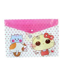 Kiss Me Print Documents Pouch - Pink