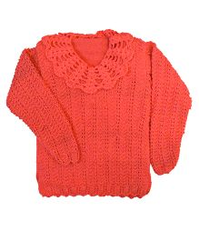 GoCuddle By Jasleen Hand Knitted Sweater - Orange