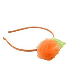 Tiny Closet Organza Rose Head Band - Peach