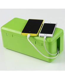 Blossoms Electric Cable Organiser And Storage Box - Green
