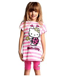 Dells World Hello Kitty Night Suit - Pink
