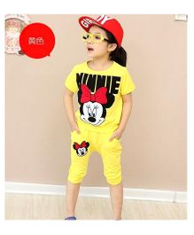 Dells World Minnie Night Suits - Yellow