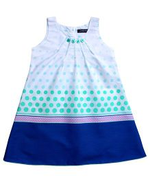 Campana Sleeveless Frock Dotted Print - Blue and Green