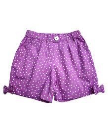 Campana Shorts Polka Dots Print - Purple