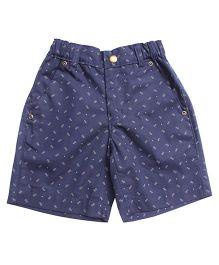Campana Shorts Polka Dots Print - Blue