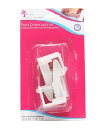 B-Safe Push Down Latches White - Pack Of 2