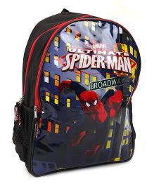 Spider Man Back Pack Black - 16 Inches