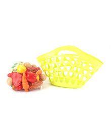 Ecoiffier Large Garnished Basket Bag With Food