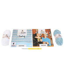 Simba Myboshi Funabashi Cap Knitting Set - Blue