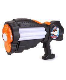 Simba Planet Fighter Power Blaster Gun - Black And Orange