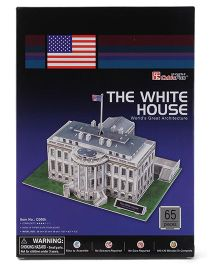 CubicFun The White House USA Puzzle White - 65 Pieces