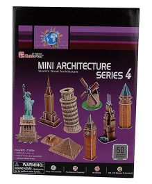 CubicFun Mini Architecture Series 4 3D Puzzle - 60 Pieces