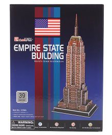 CubicFun Empire State Building USA 3D Puzzle Multicolor - 39 Pieces