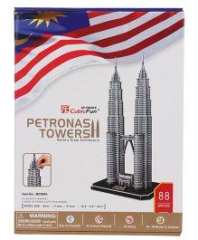CubicFun Petronas Towers 3D Puzzle - 88 Pieces