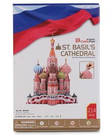 CubicFun St. Basil's Cathedral Russia Puzzle Multicolor - 214 Pieces