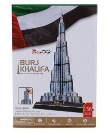 CubicFun Burj Khalifa Construction Puzzle - 136 Pieces